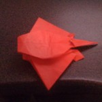 An origami stingray